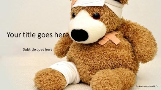 injured teddy bear powerpoint template
