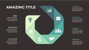 vivid infographic powerpoint design